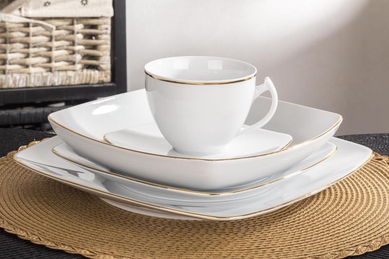 Nowoczesny Komplet Porcelany Obiadowej I Kawowej Chodzież Akcent
