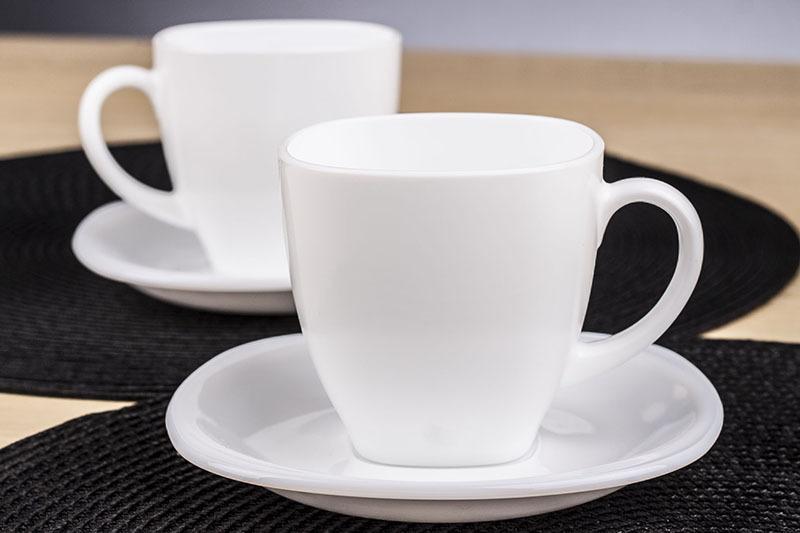klasyczny zestaw kawowy ze szk a luminarc carine white serwis kawowy 220 ml 12 6. Black Bedroom Furniture Sets. Home Design Ideas